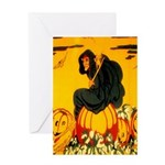 Witch On Pumpkin Greeting Card