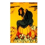Witch On Pumpkin Postcards (Package of 8)