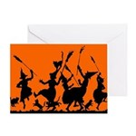 Witches Dance 2 Greeting Card