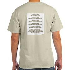 Golden Ohm & Buddha Quote T-Shirt
