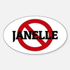 Anti-Janelle Oval Decal