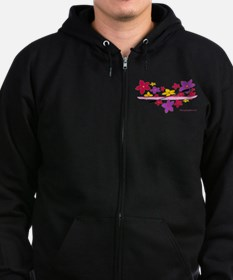 Kayak Flower Power Zip Hoodie (dark)