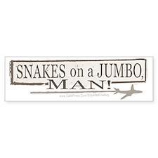 Snakes on a Jumbo Bumper Bumper Sticker