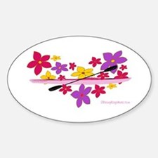 Kayak Flower Power Sticker (Oval)