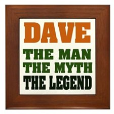 DAVE - The Legend Framed Tile