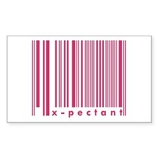 X-pectant New Mommy Daddy Barcode Decal