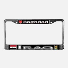 Baghdad, IRAQ - License Plate Frame