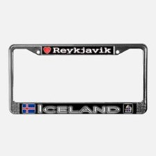 Reykjavik, ICELAND - License Plate Frame