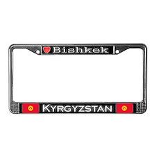 Bishkek, KYRGYZSTAN - License Plate Frame