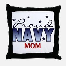 Proud Navy Mom Throw Pillow