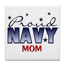 Proud Navy Mom Tile Coaster