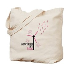 Powered by Pink (Turbine) Tote Bag