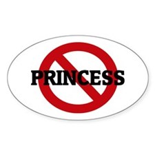 Anti-Princess Oval Decal