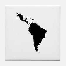 Latin South America Tile Coaster