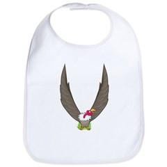 Animal Alphabet Vulture Bib