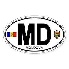 Moldova Euro Oval Decal