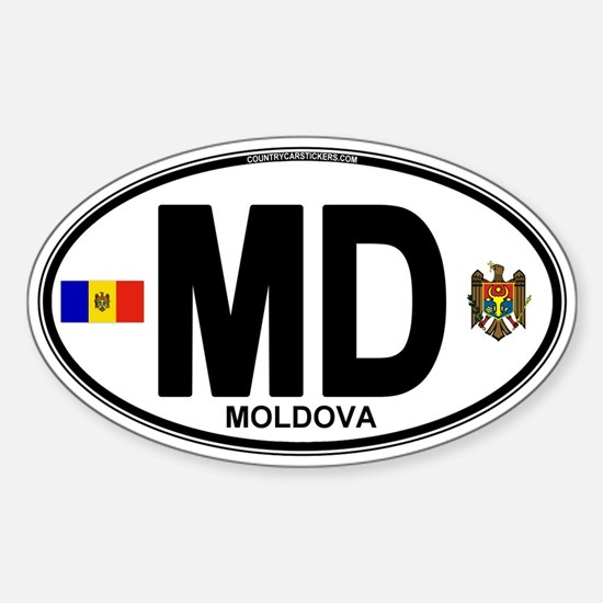 Moldova Euro Oval Sticker (Oval)