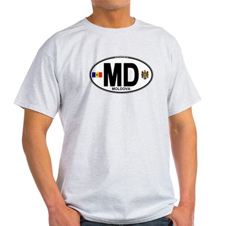 Moldova Euro Oval Light T-Shirt