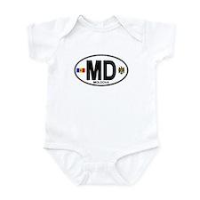 Moldova Euro Oval Infant Bodysuit