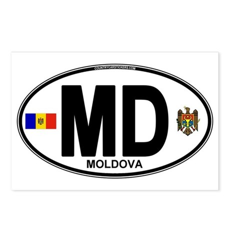 Moldova Euro Oval Postcards (Package of 8)