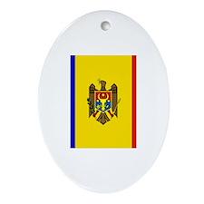 Moldovan Flag Ornament (Oval)