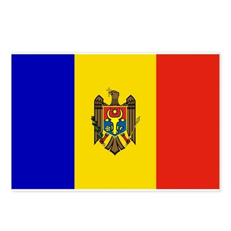 Moldovan Flag Postcards (Package of 8)