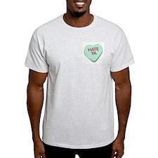 Hate Ya Ash Grey T-Shirt