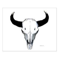 Buffalo skull European mount Posters