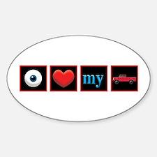 I Love My Truck Sticker (Oval)
