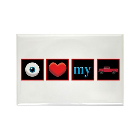 I Love My Truck Rectangle Magnet (100 pack)