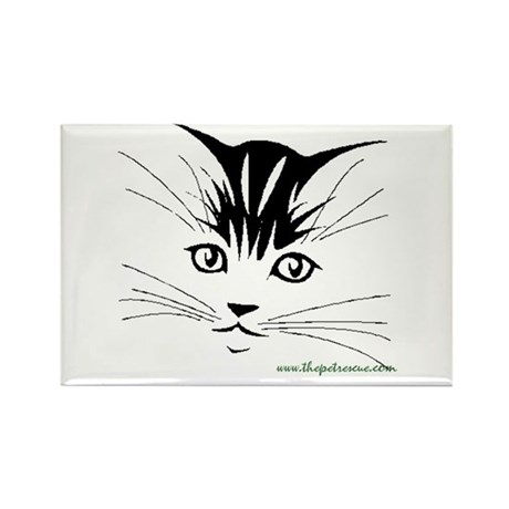 Pretty kitty face Rectangle Magnet