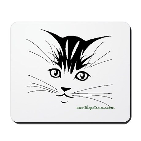 Pretty kitty face Mousepad
