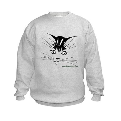 Pretty kitty face Kids Sweatshirt