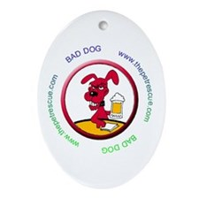Bad dog Ornament (Oval)