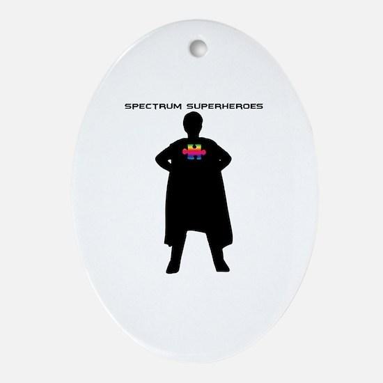 Spectrum Superhero Ornament (Oval)