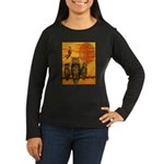 3 Owls Women's Long Sleeve Dark T-Shirt