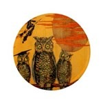 "3 Owls 3.5"" Button"