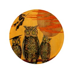 "3 Owls 3.5"" Button"