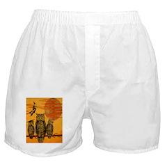 3 Owls Boxer Shorts