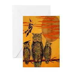 3 Owls Greeting Card