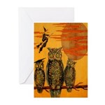 3 Owls Greeting Cards (Pk of 10)