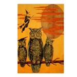 3 Owls Postcards (Package of 8)