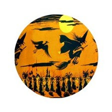 """Flying Witches 3.5"""" Button"""
