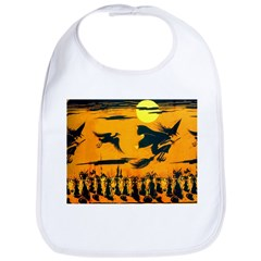 Flying Witches Bib