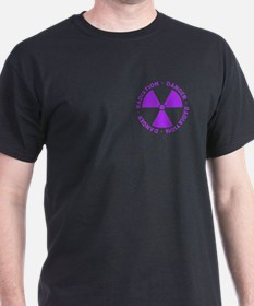 Purple Radiation Symbol T-Shirt