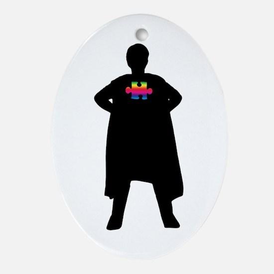 Spectrum Superheroes V2b Ornament (Oval)