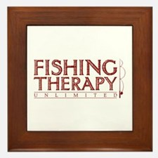 Fishing Therapy Unlimited Framed Tile