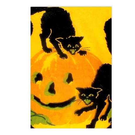 Pumpkin Cats Postcards (Package of 8)