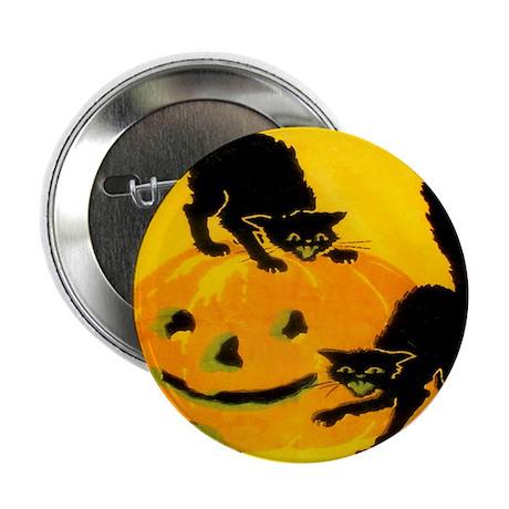 """Pumpkin Cats 2.25"""" Button (100 pack)"""