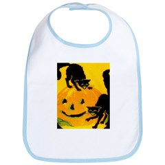 Pumpkin Cats Bib